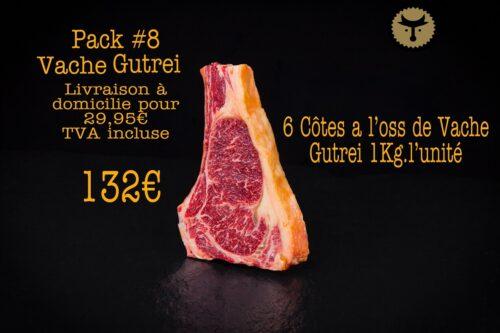 Pack 8 Vache Gutrei (6 côtes a l'oss)