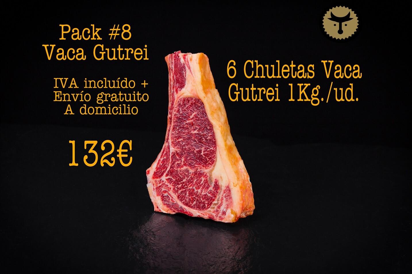 pack 8 chuleton vaga 1kg