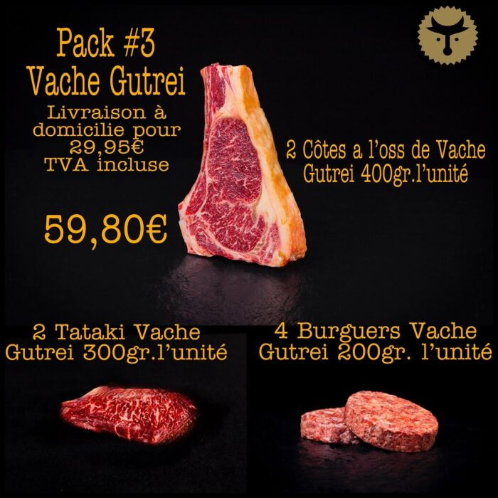 Pack 3 Vache Gutrei