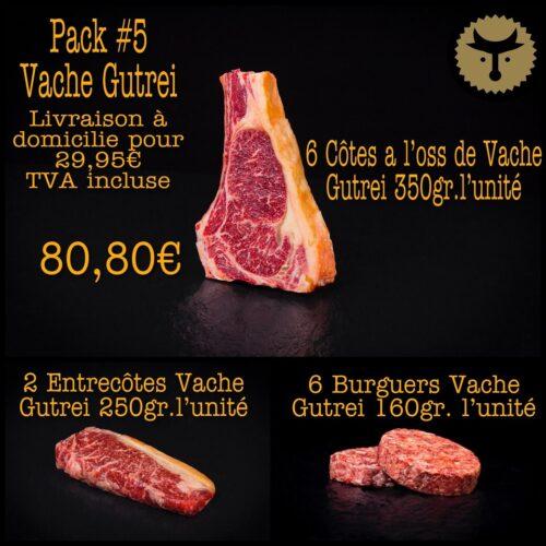 Pack 5 Vache Gutrei