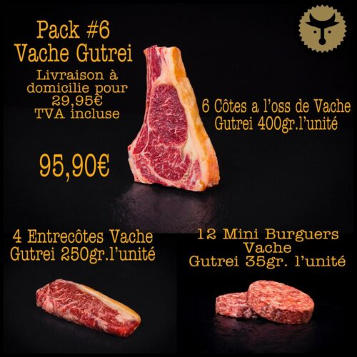 Pack 6 Vache Gutrei