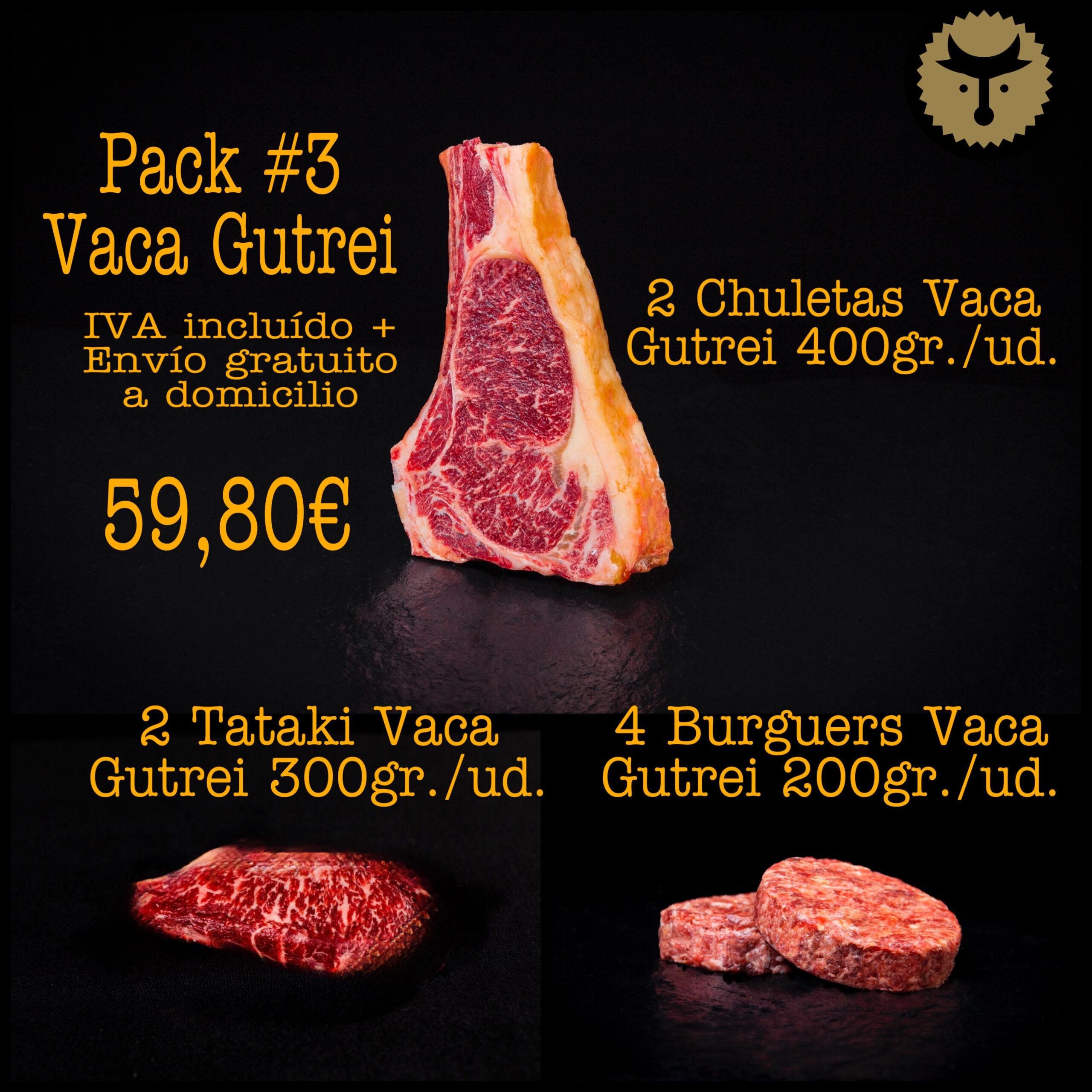 Pack 3 Vaca Gutrei