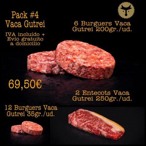 Pack 4 Vaca carne gallega Gutrei