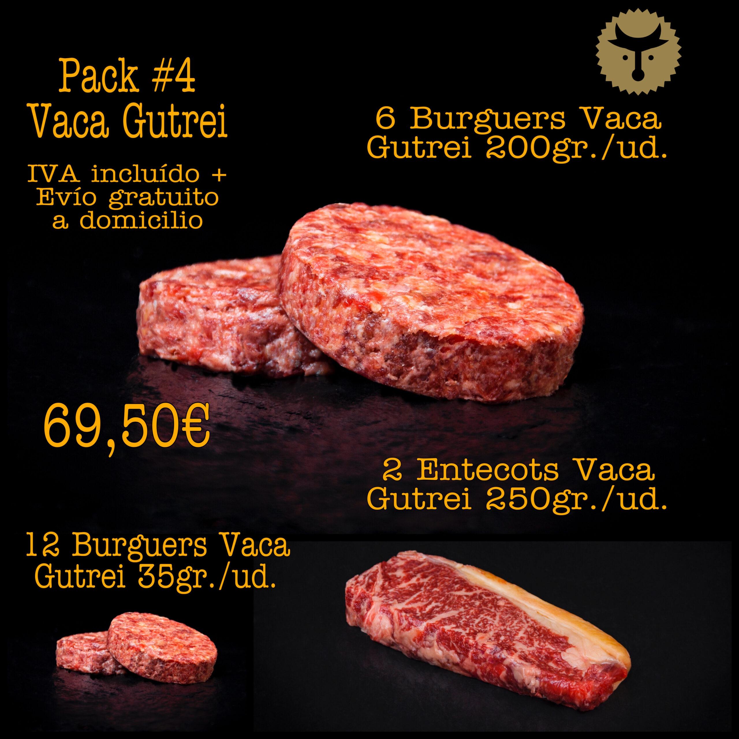 Pack 4 Vaca Gutrei
