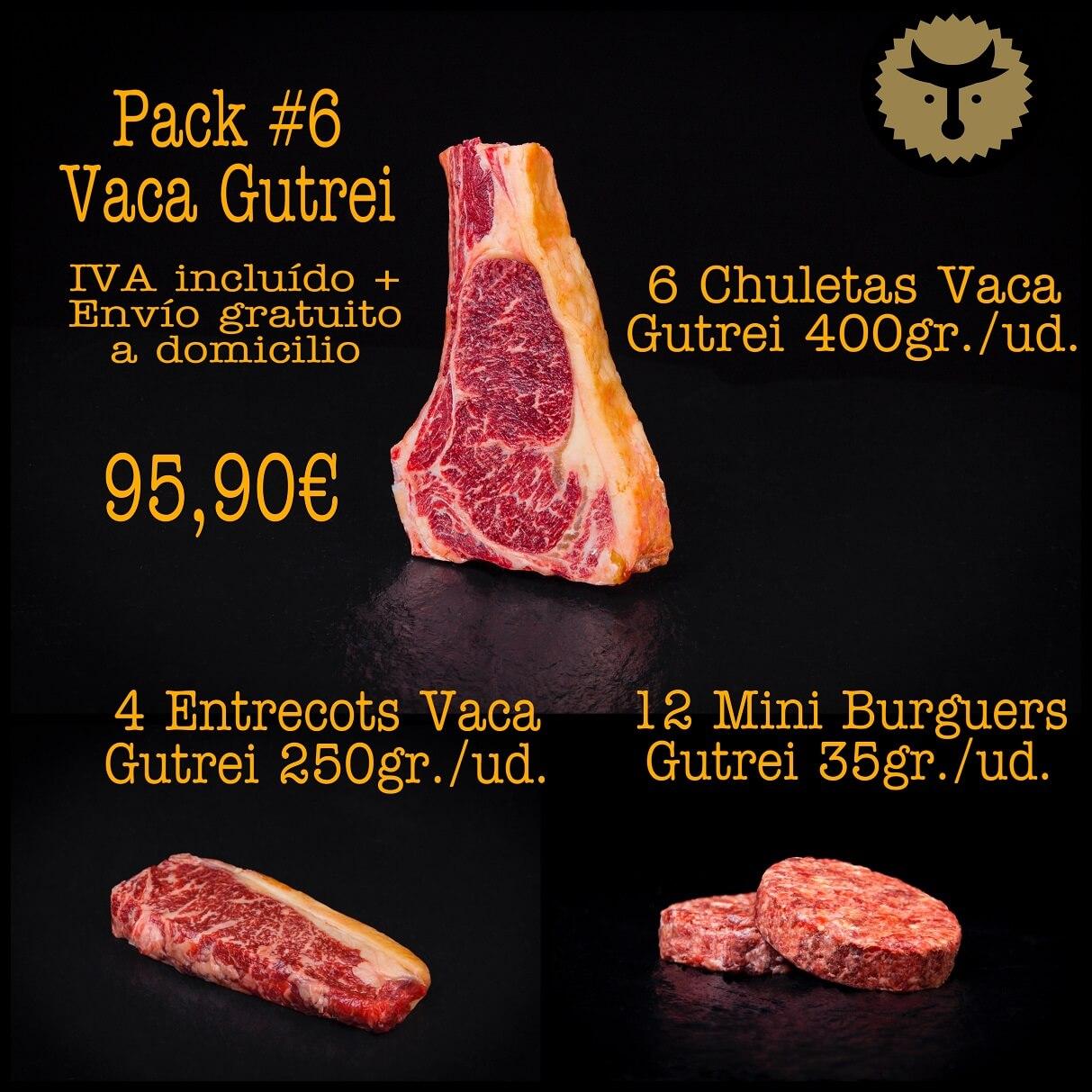 Pack 6 Vaca Gutrei