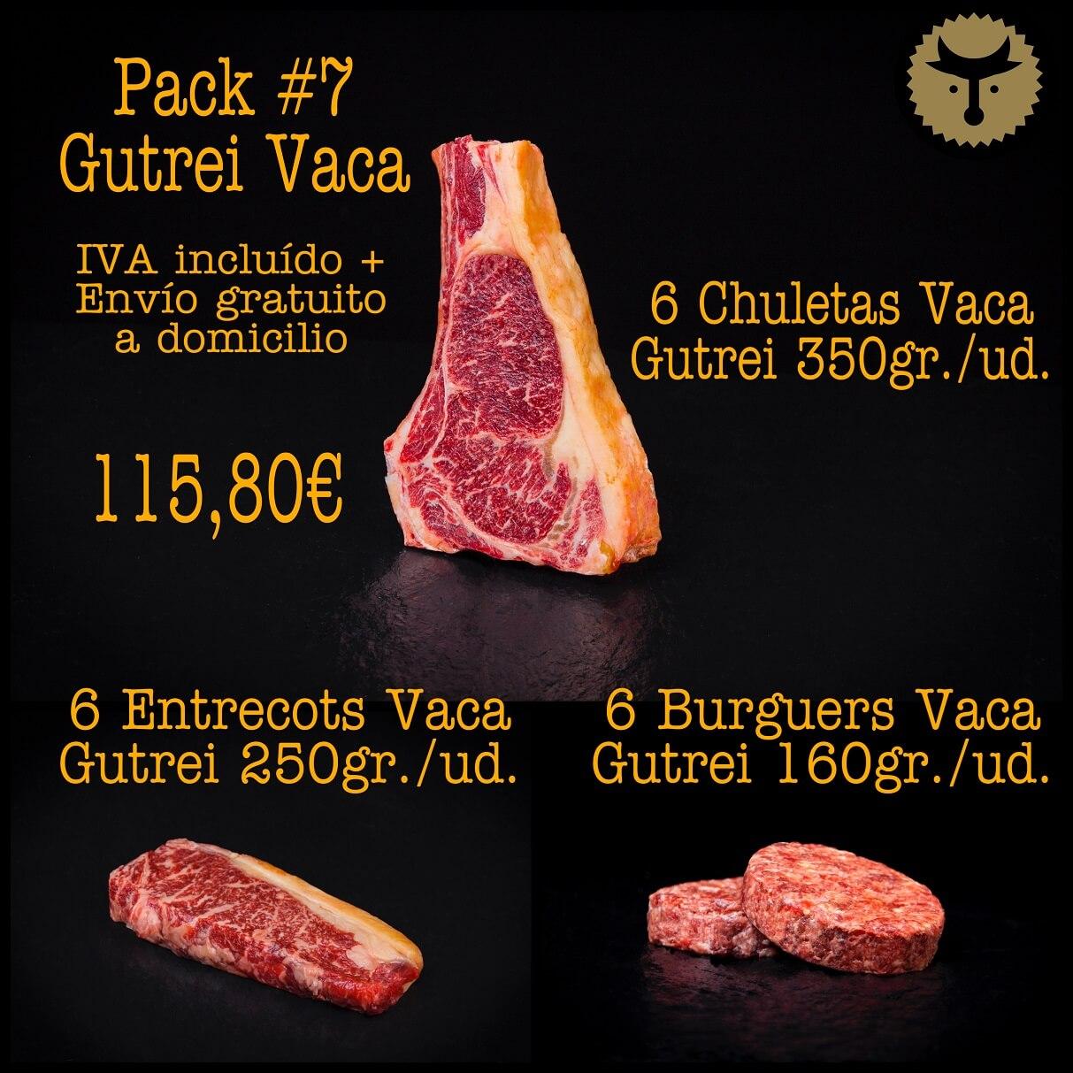 Pack 7 Vaca Gutrei online