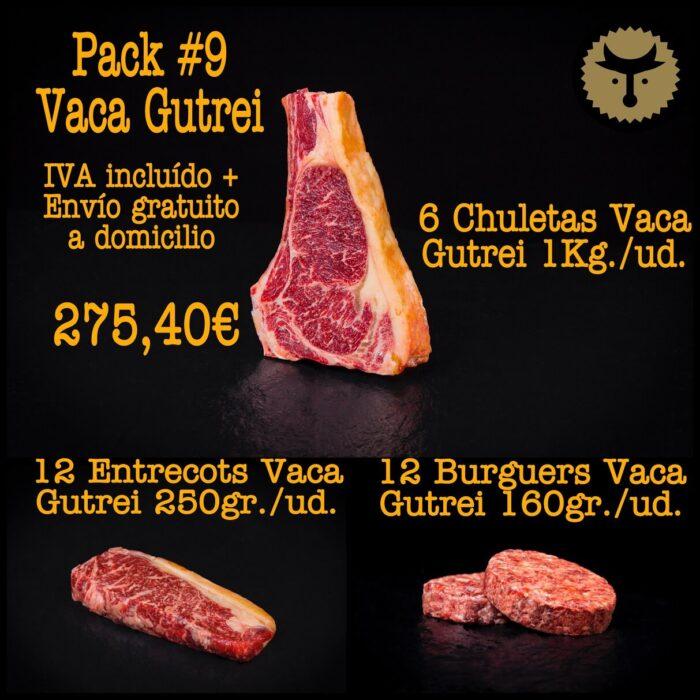 Pack 9 carne vaca online
