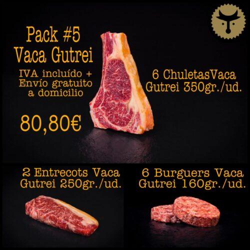 Pack 5 vaca Gutrei