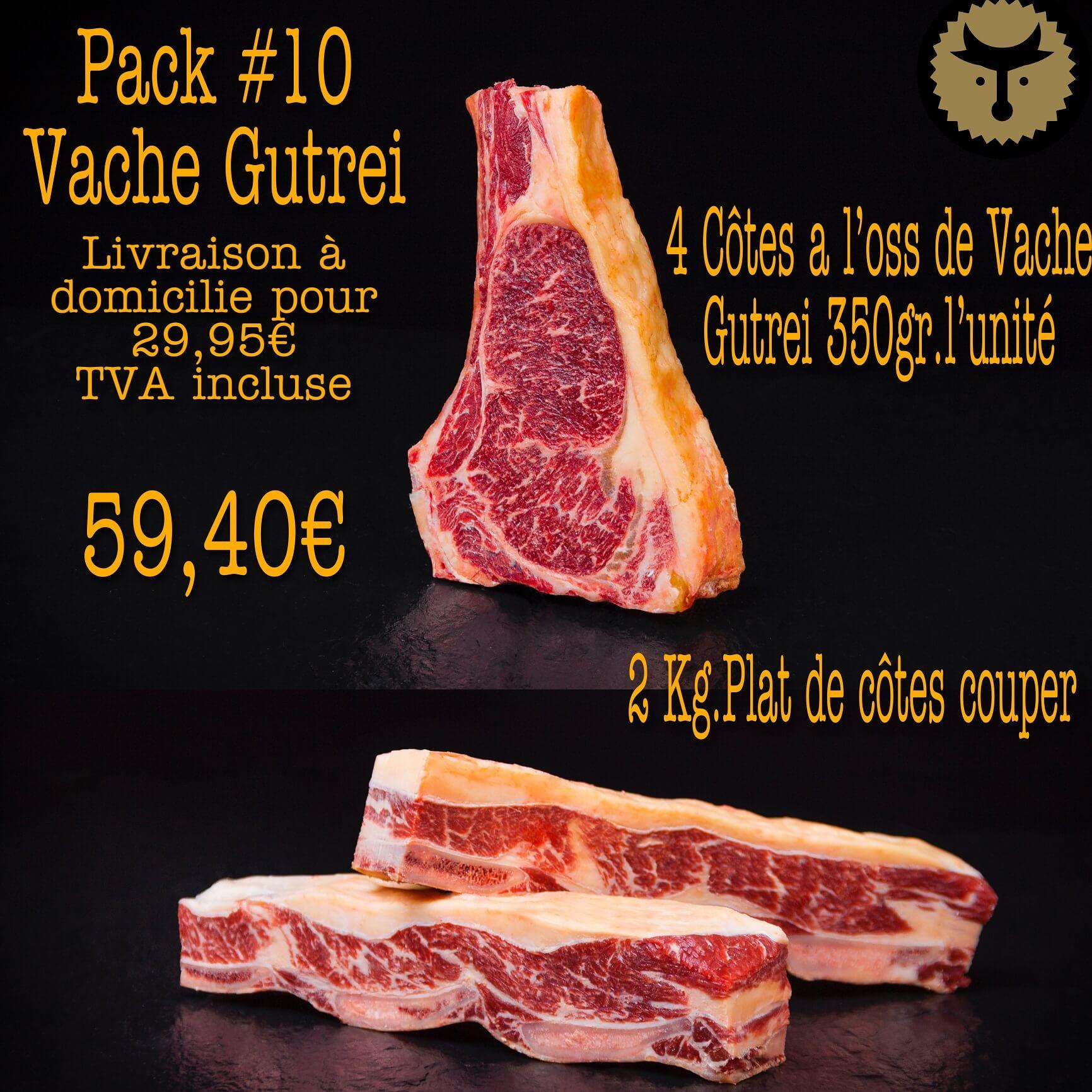 Pack 10 vache Gutrei