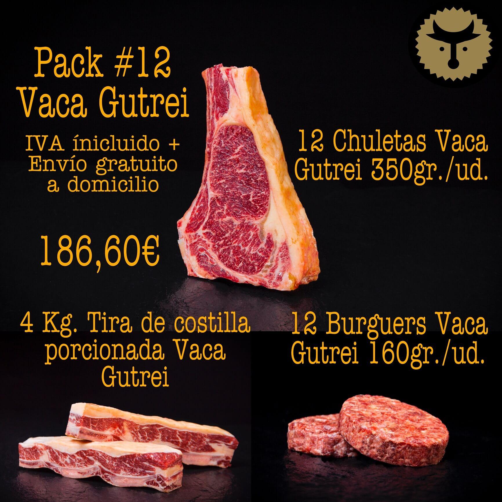 Pack 12 Parrilla Vaca GUTREI