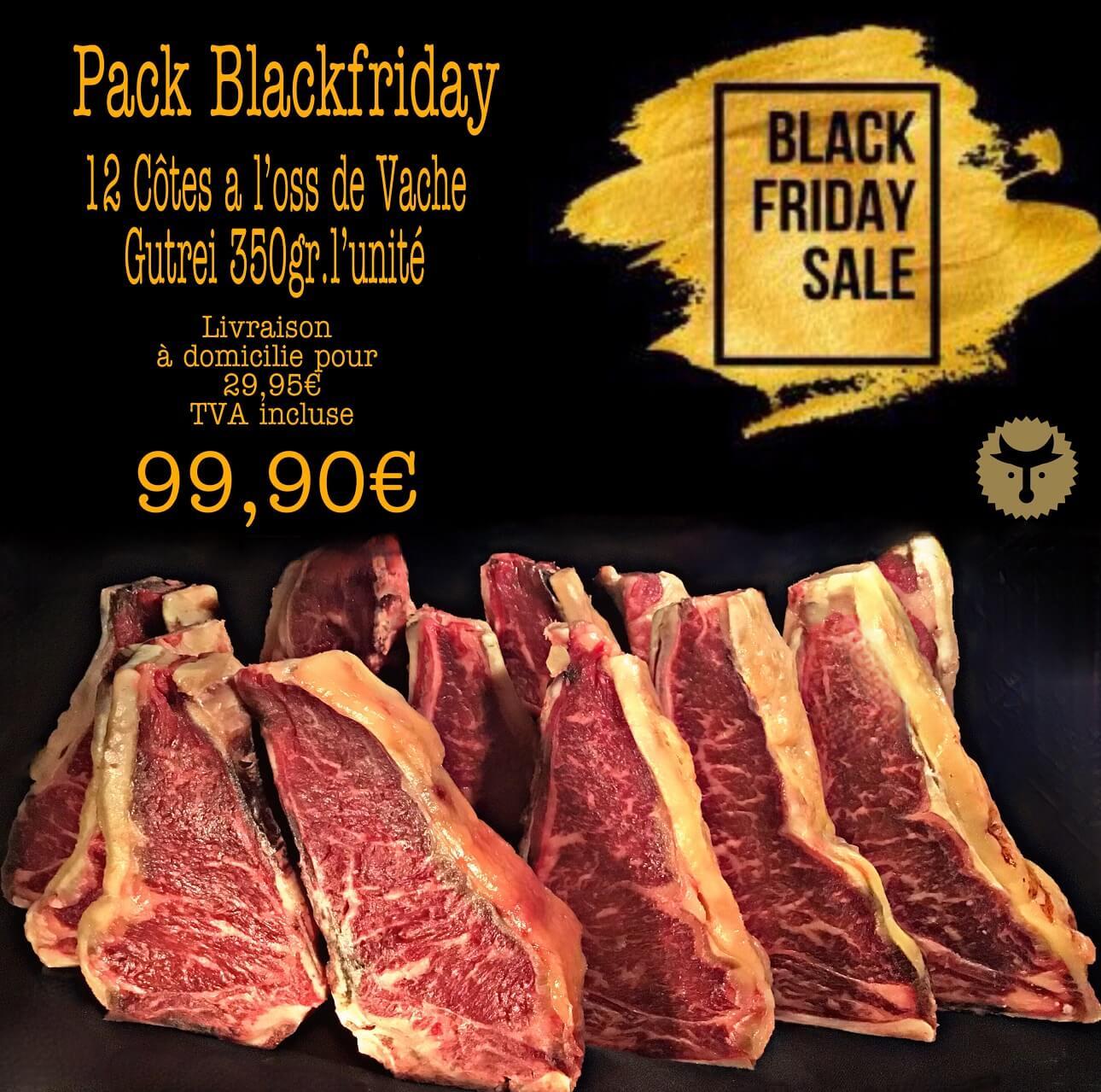 Pack BlackFriday: 12 côtes a l'oss de vache