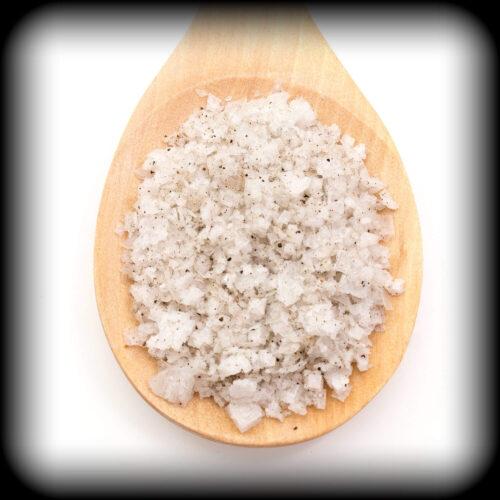 Pétales de sel truffé (60 gr. Récipient en verre)